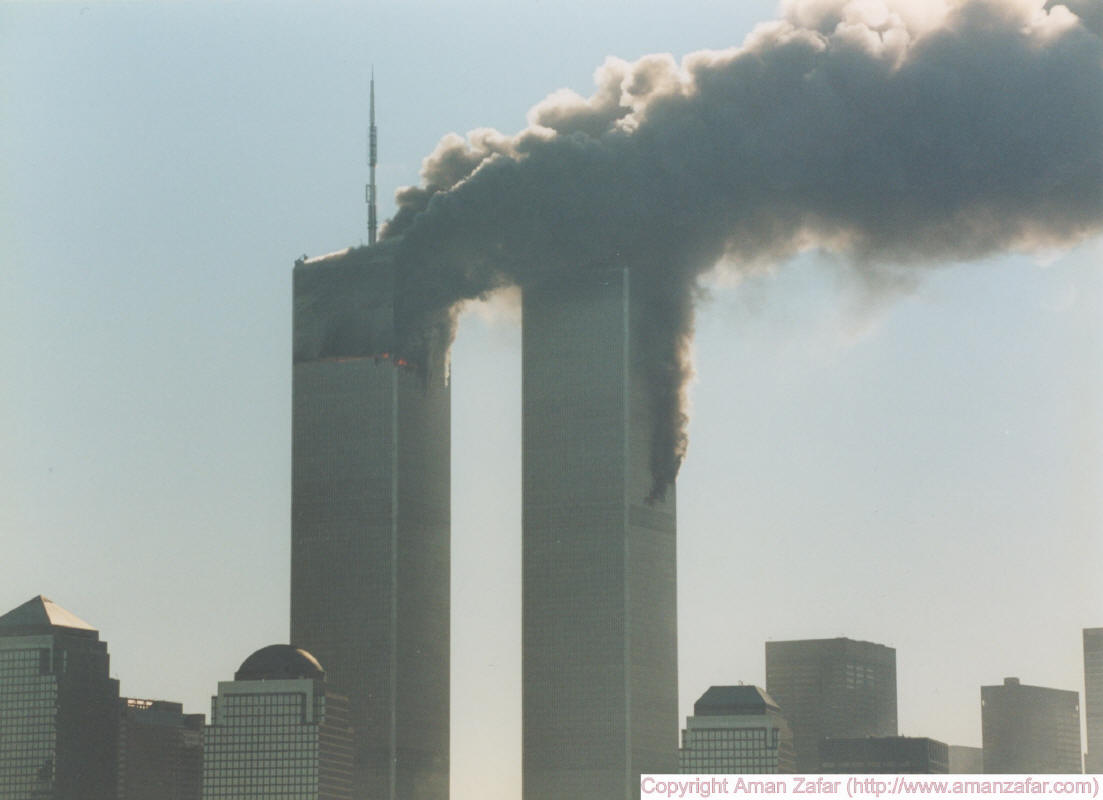 9-11 brennendes WTC